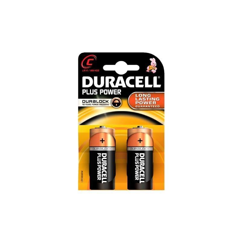 Pilas alcalinas Duracell LR14 C. Blister de 2.
