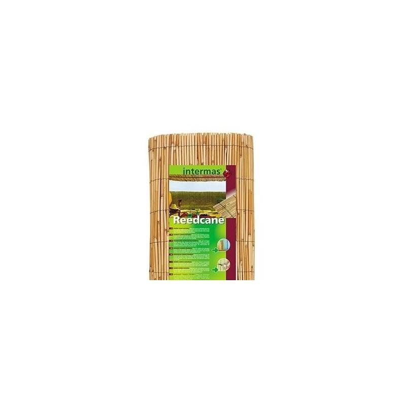 Cañizo de bambú natural Reedcane. Rollo de 5 m.