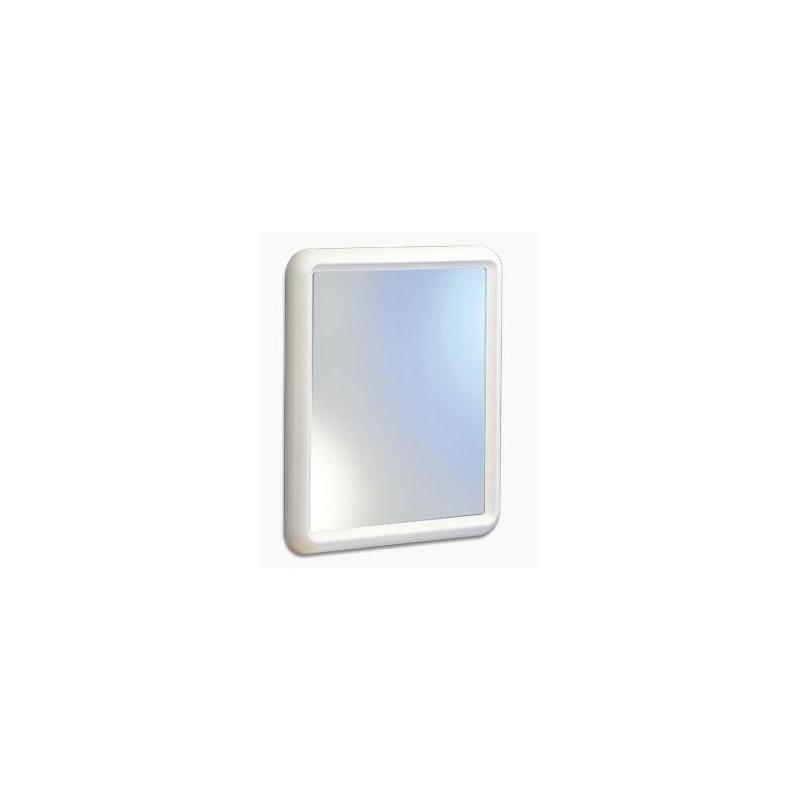 Espejo ba o rectangular blanco tienda online accesorios for Espejo rectangular grande