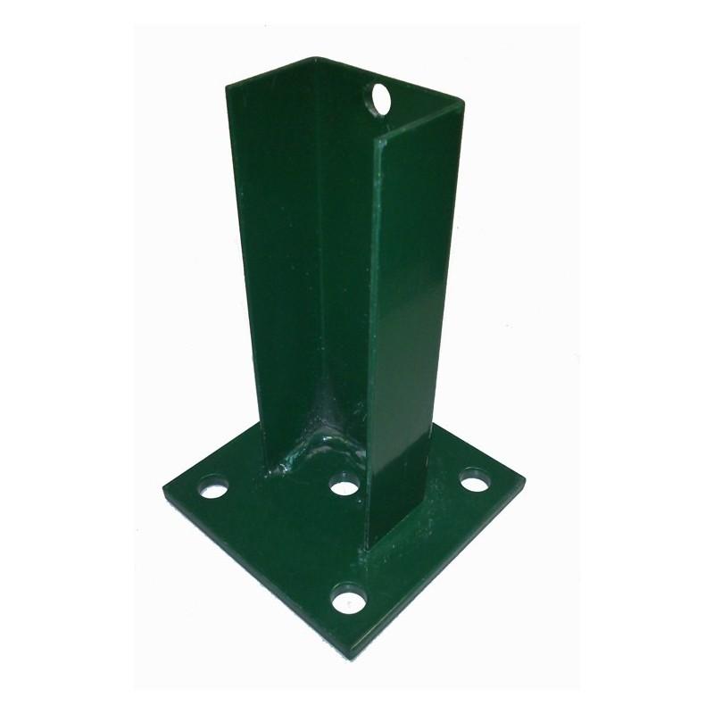 Base para poste cuadrado de 60x40 mm.