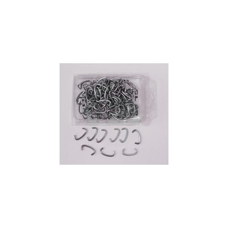 Caja de 100 grapas de acero inox para cercados