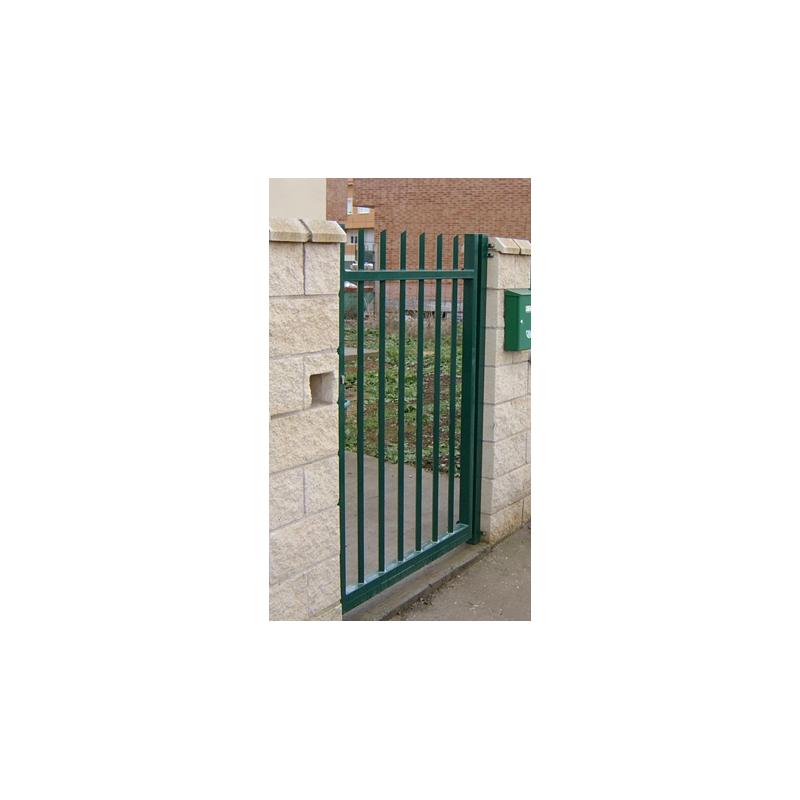 Puerta Cisne verde pre-galvanizada y plastificada