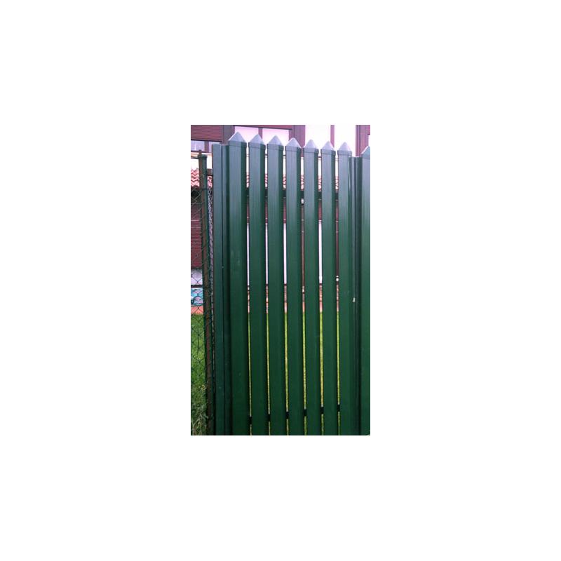 Puerta Pico-Pato vertical cerrado verde pre-galvanizada y plastificada