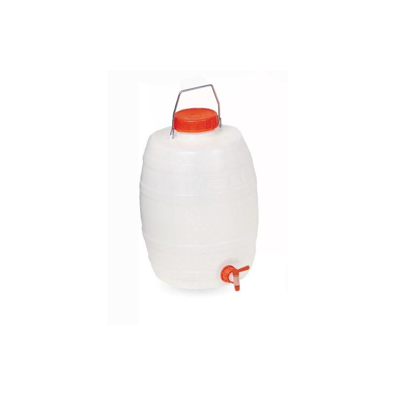 Bidón para uso alimentario con grifo 20 litros.