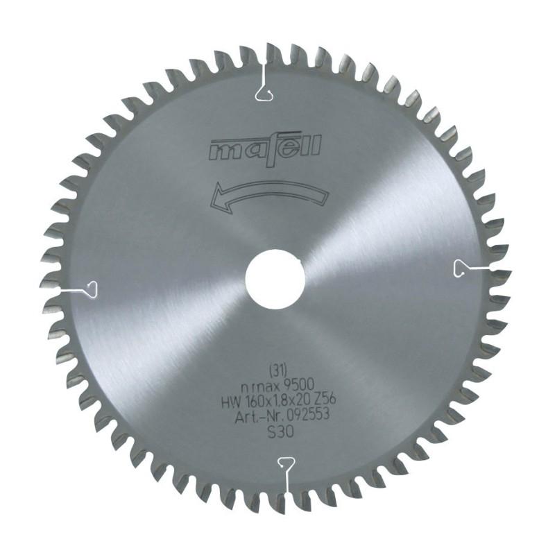 Hoja de sierra Mafell HM cortes finos 160x1,8x20 mm. Z56