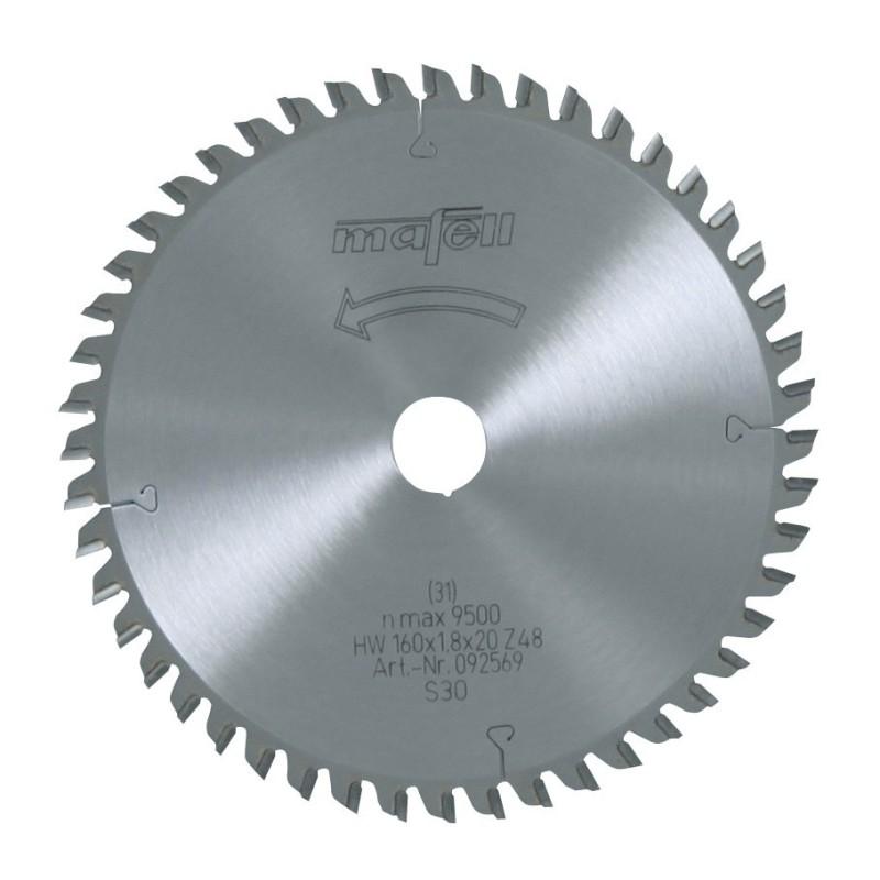Hoja de sierra Mafell HM cortes finos 160x1,8x20 mm. Z48