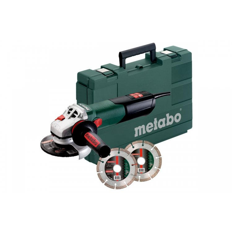 Amoladora Metabo WE 17-125 Quick + 2 discos de diamante