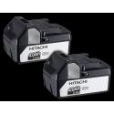 Pack de Taladro percutor atornillador a batería Hitachi + Mini-amoladora a batería + 2 baterías + Cargador + Mochila