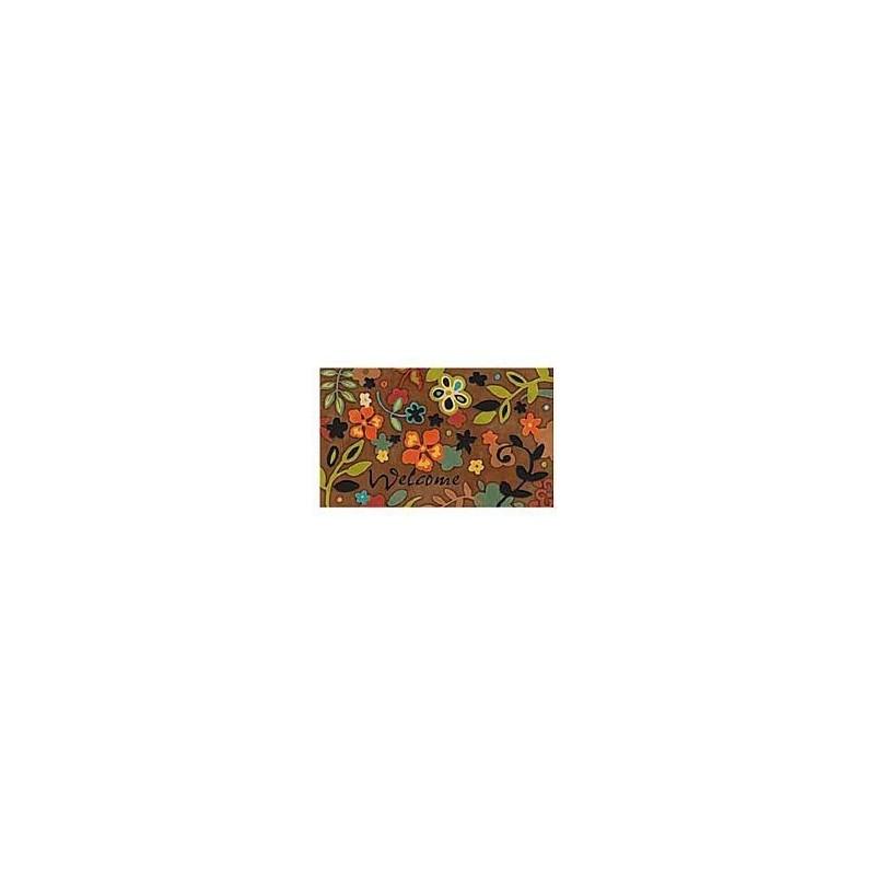 Felpudo de goma modelo Living Flores 45x75
