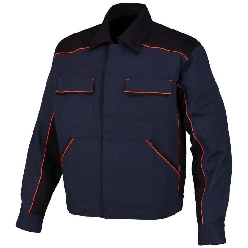 Cazadora de algodón Azul-Negro 8945C