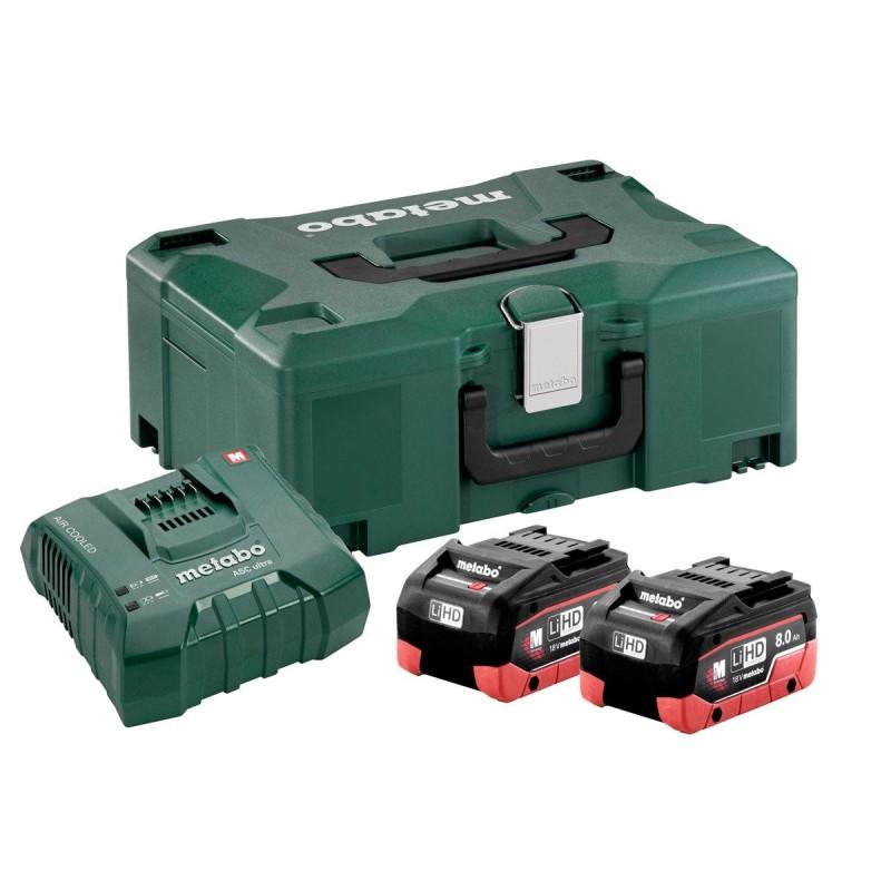 Combo Basic Set de 2 baterías 18V 8.0 Ah + cargador Metabo