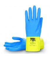 Guantes de latex flocado bicolor 9007