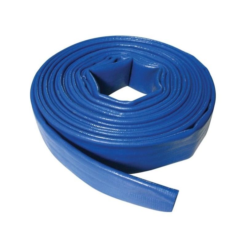 Manguera plana azul. Venta por metros