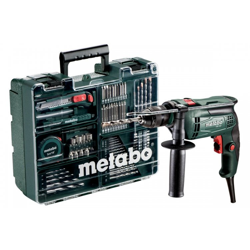 Taladro de percusión Metabo SBE 650 + Accesorios
