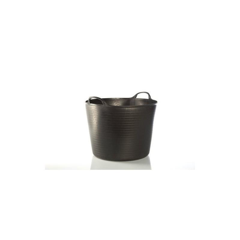 Capazo de plástico negro. 42 litros.