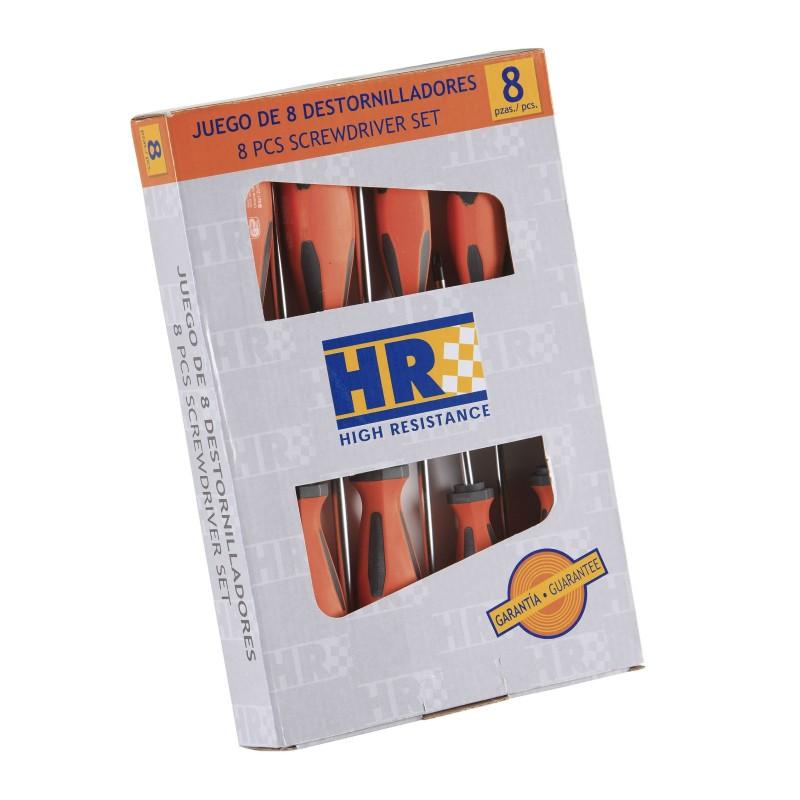 Juego de 8 destornilladores HR Alyco