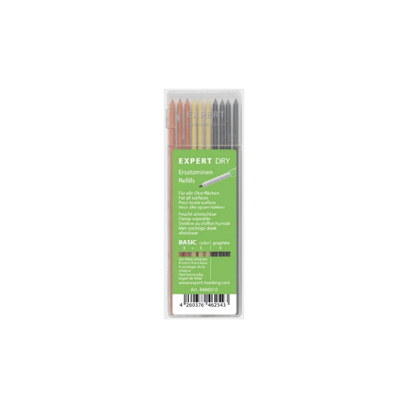Estuche de 10 minas de colores Basic