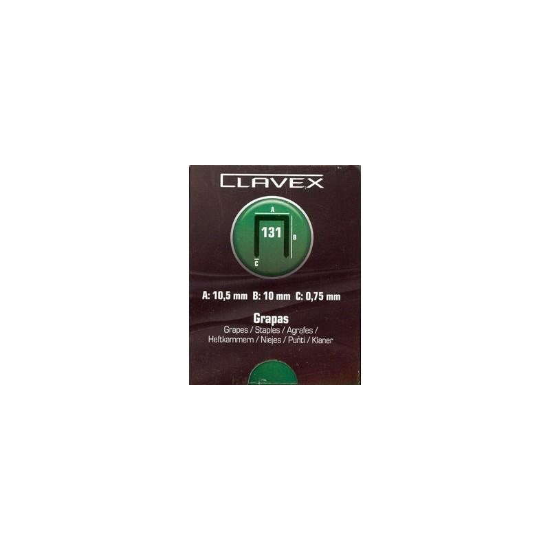 Grapas Clavex 131. Caja de 5.000 unidades.