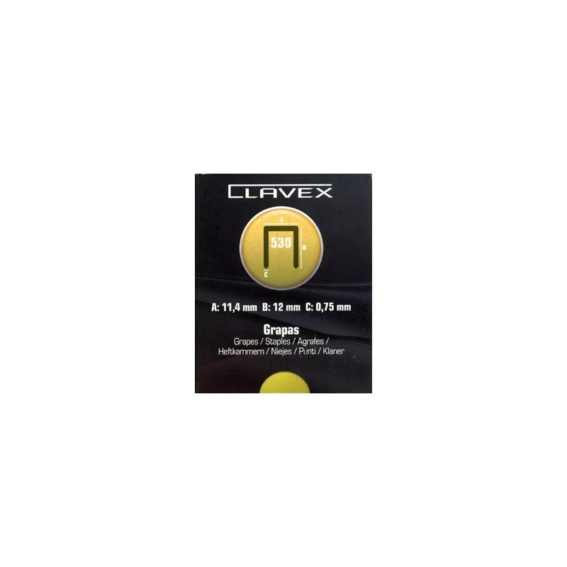 Grapas Clavex 530. Caja de 5.000 unidades.