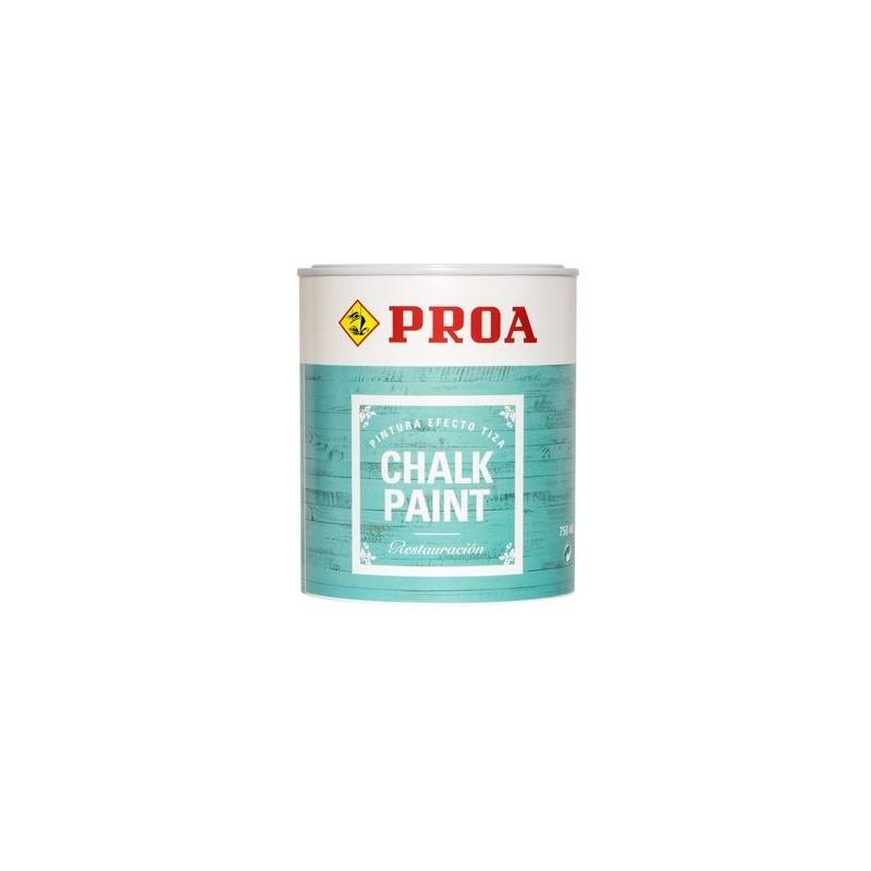 Pintura efecto tiza color blanco de Proa 0.75 l.