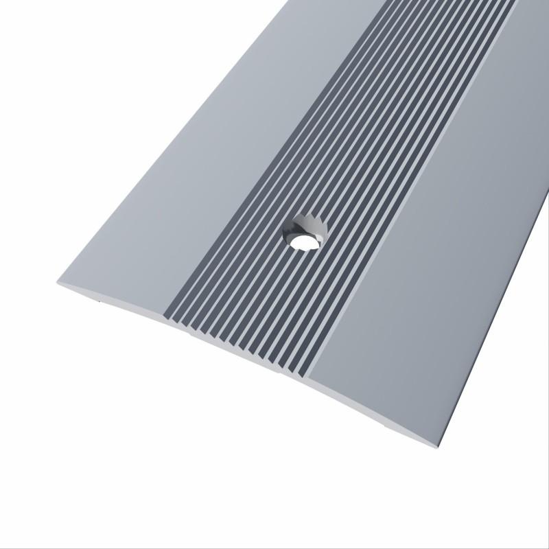 Tapajuntas de aluminio para atornillar de 40 mm. mismo nivel