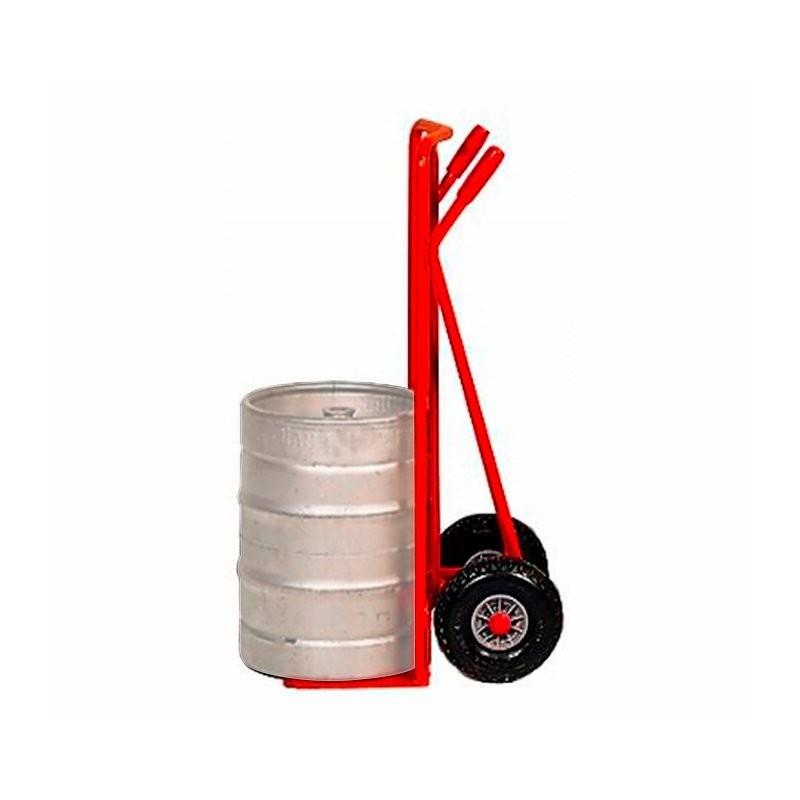 Carretilla de reparto para bidones de cerveza