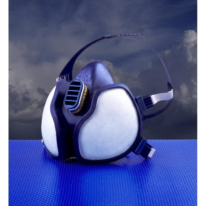 Máscara autofiltrante 3M para gases y vapores FFABE1P3D con filtros integrados