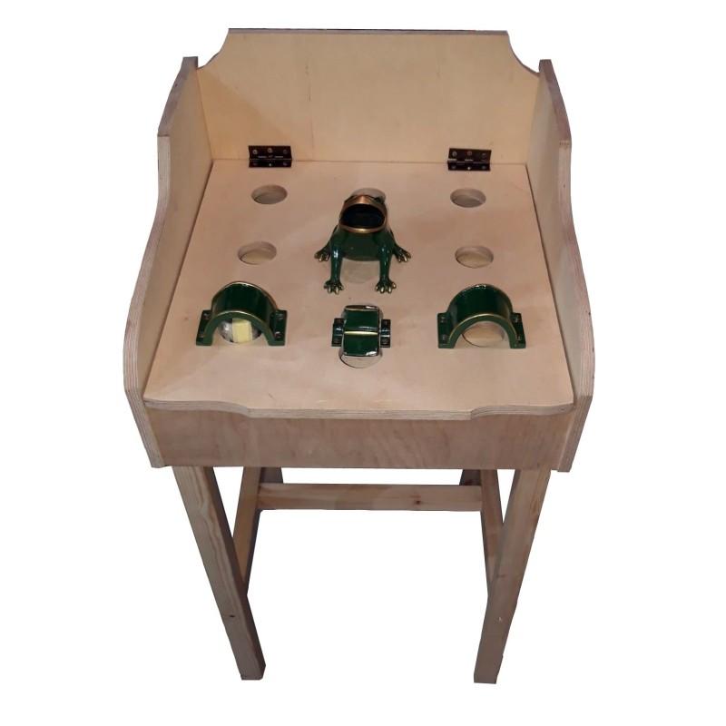 Juego de rana con mueble de madera