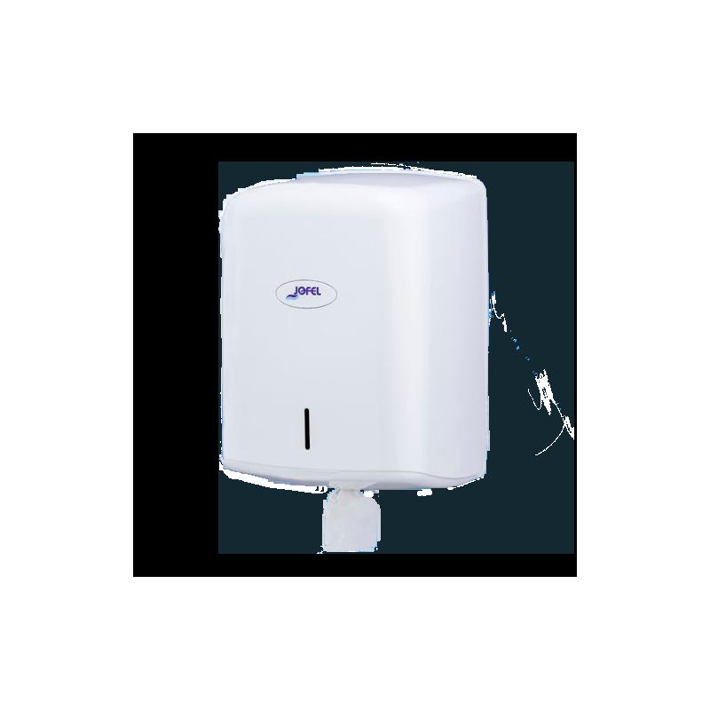 Dispensador de papel mecha secamanos Smart ABS Blanco