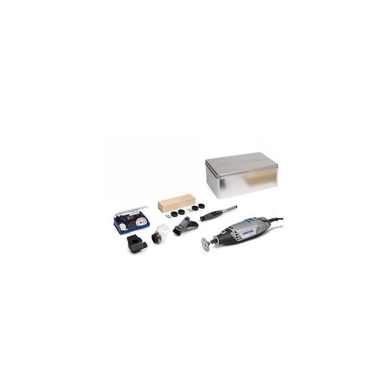 Multiherramienta Dremel 3000KK con 4 complementos y 45 accesorios.