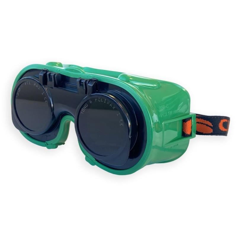 Gafas con lentes abatibles Climax 545 A para soldadura