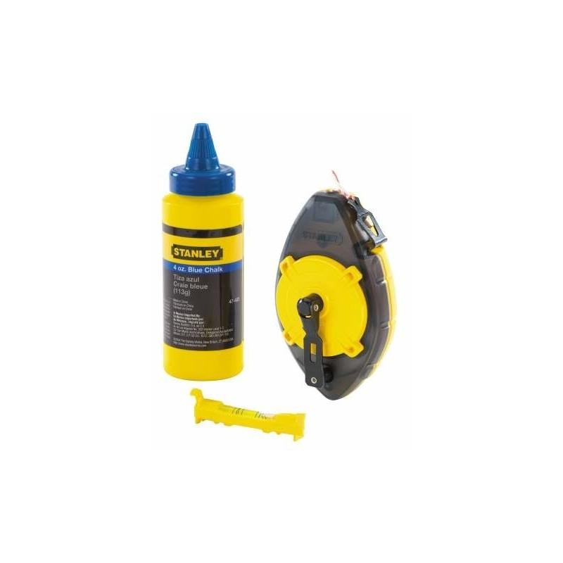 Kit Powerwinder de Cordel trazador, polvo y nivel Stanley