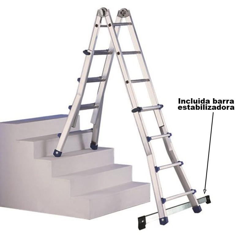 Escalera Telescópica Escalísima Plus Svelt 10+10 EN 131