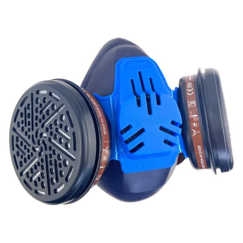 Mascarilla de silicona Climax 757 + 2 filtros A1 para gases y vapores