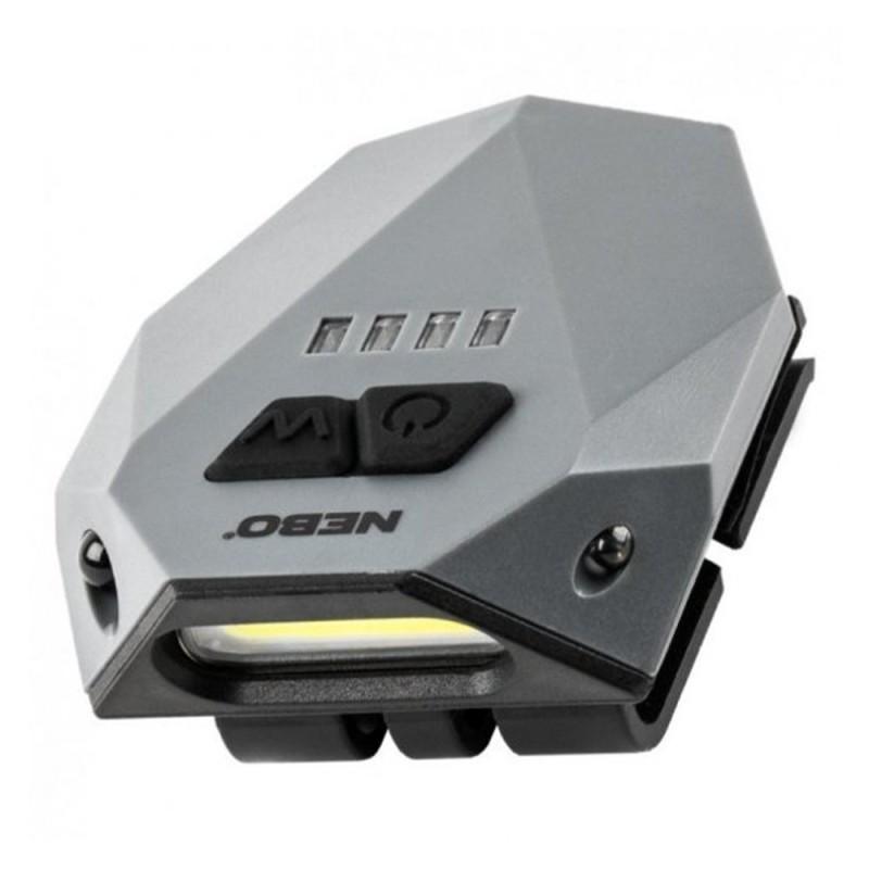 Linterna LED Con Pinza Recargable NEBO Einstein HLP-0004-G