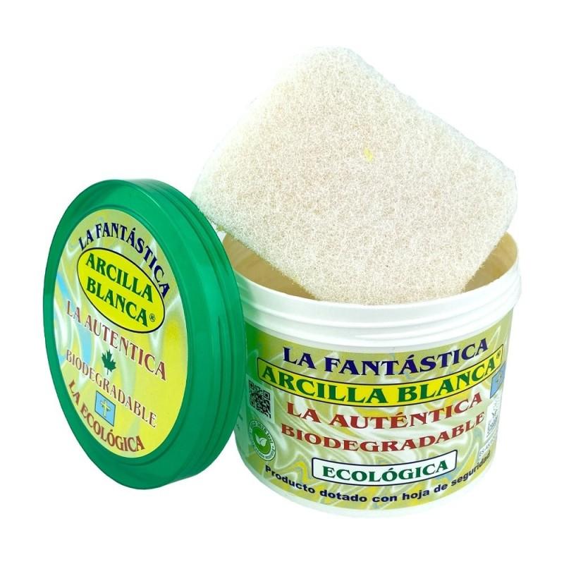 Bote de Arcilla Blanca Ecológica para Limpieza La Auténtica 500 Gramos