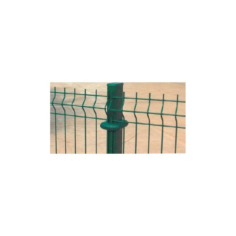 Poste Rectangular para Panel Plegado verde en Acero Galvanizado