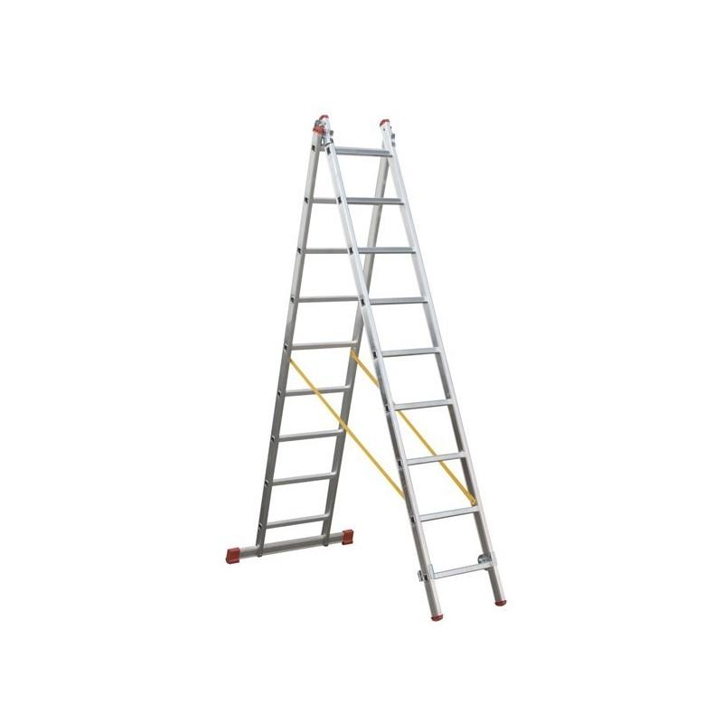 Escalera de aluminio de 2 tramos svelt t2 tienda de for Escaleras 2 tramos