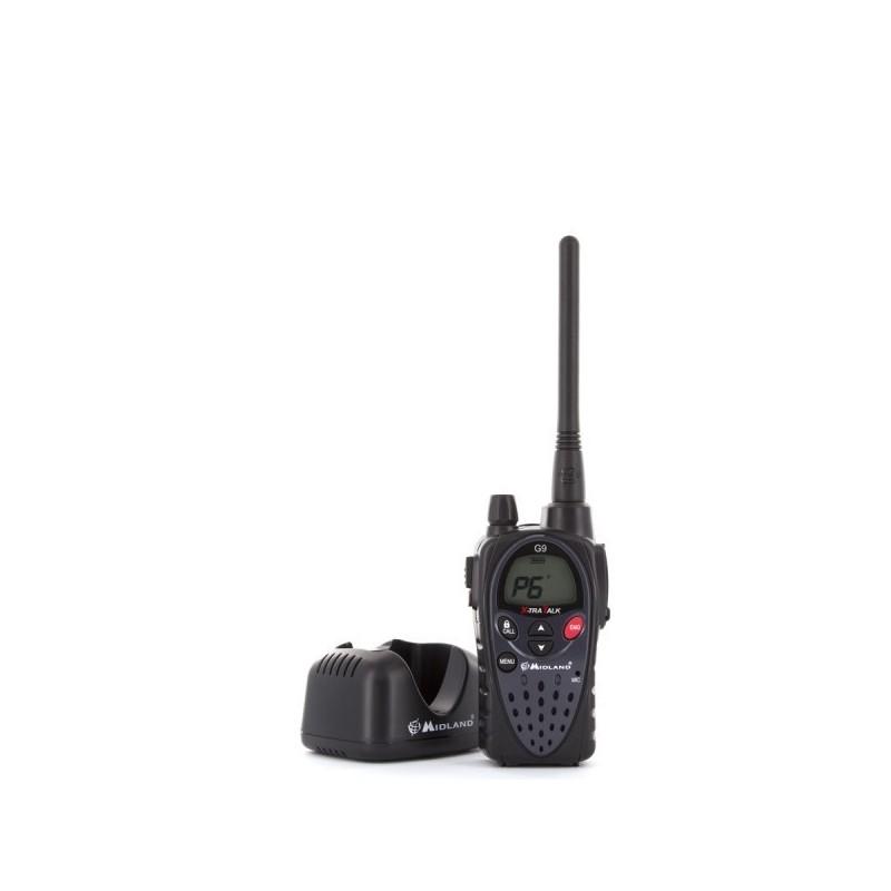 Par de walkie talkies Midland G9E + Kit de Carga IP55