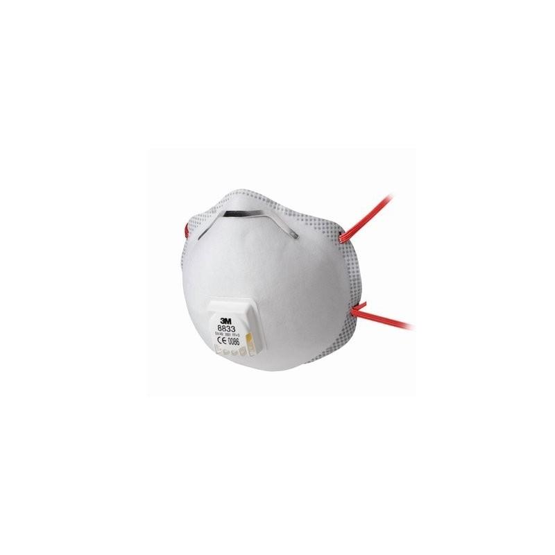 Mascarilla moldeada ffp3 con v lvula 8833 3m tienda de - Mascarillas con filtro ...