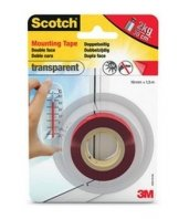 Cinta de doble cara transparente de Scotch 3M