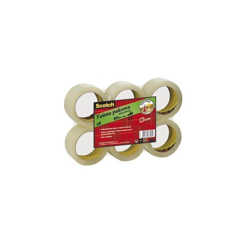 Pack de 6 rollos de cinta de embalaje Scotch 3M