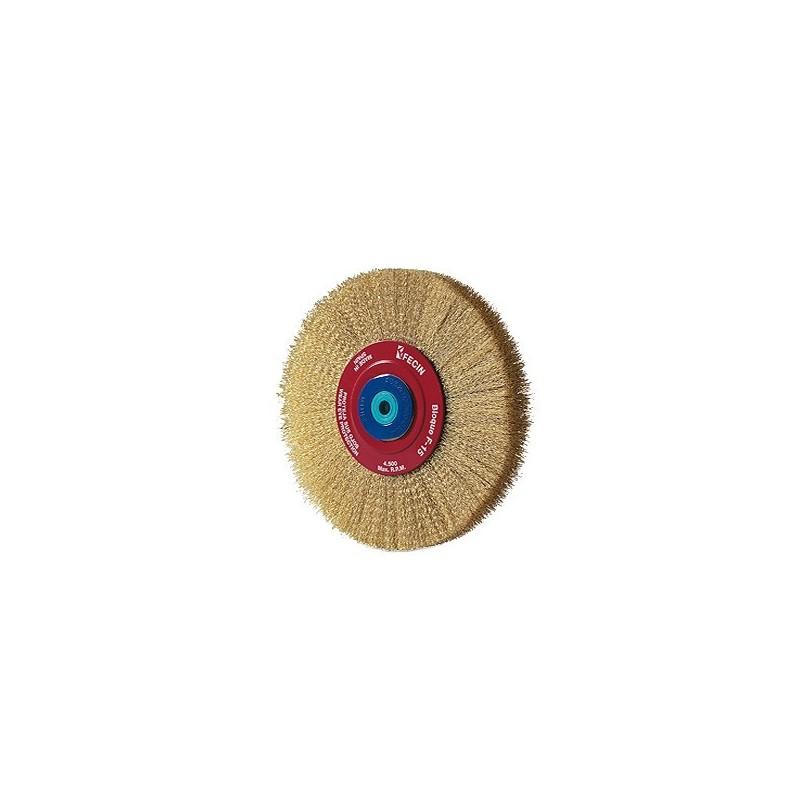 Cepillo circular de alambre ondulado F-15