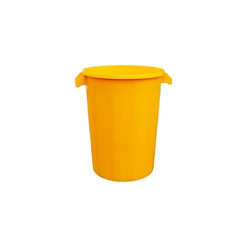 Cubo de basura sin tapa de 100 litros