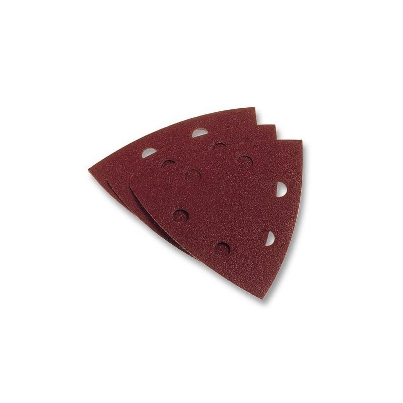 Hojas de lija adhesivas triangulares. Blíster de 5