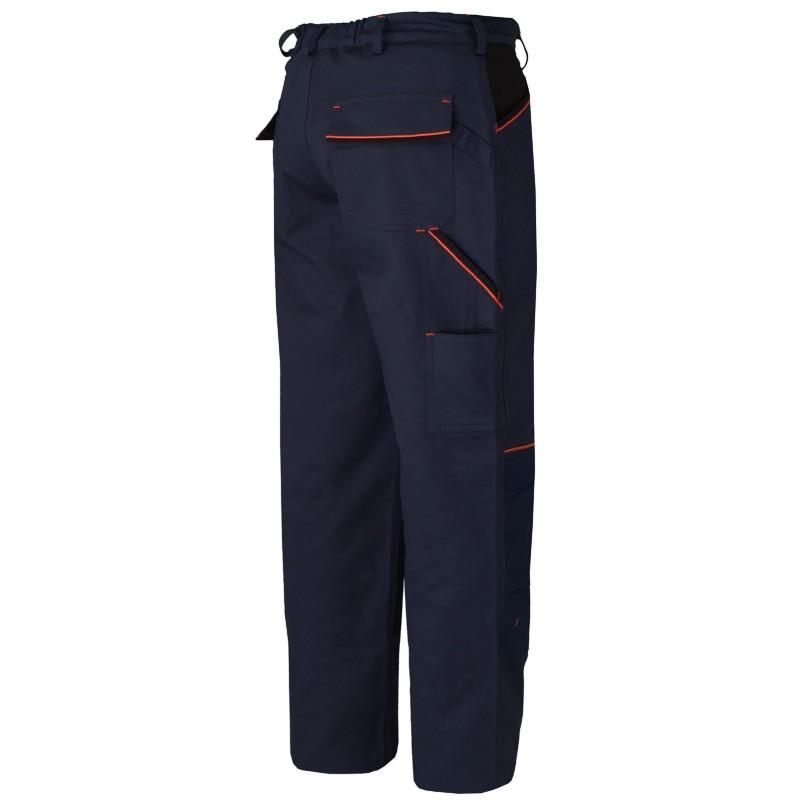 Pantalón de algodón Azul-Negro 8930C