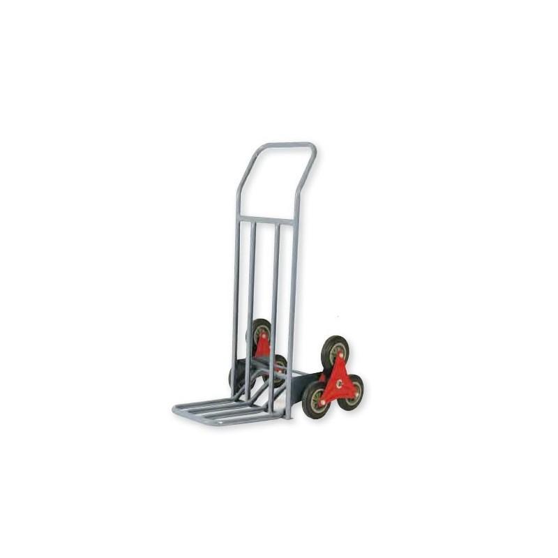 Carretilla de almacén multi-ruedas especial escaleras