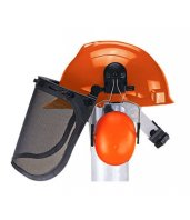 Kit forestal con casco, visor de malla y protector auditivo