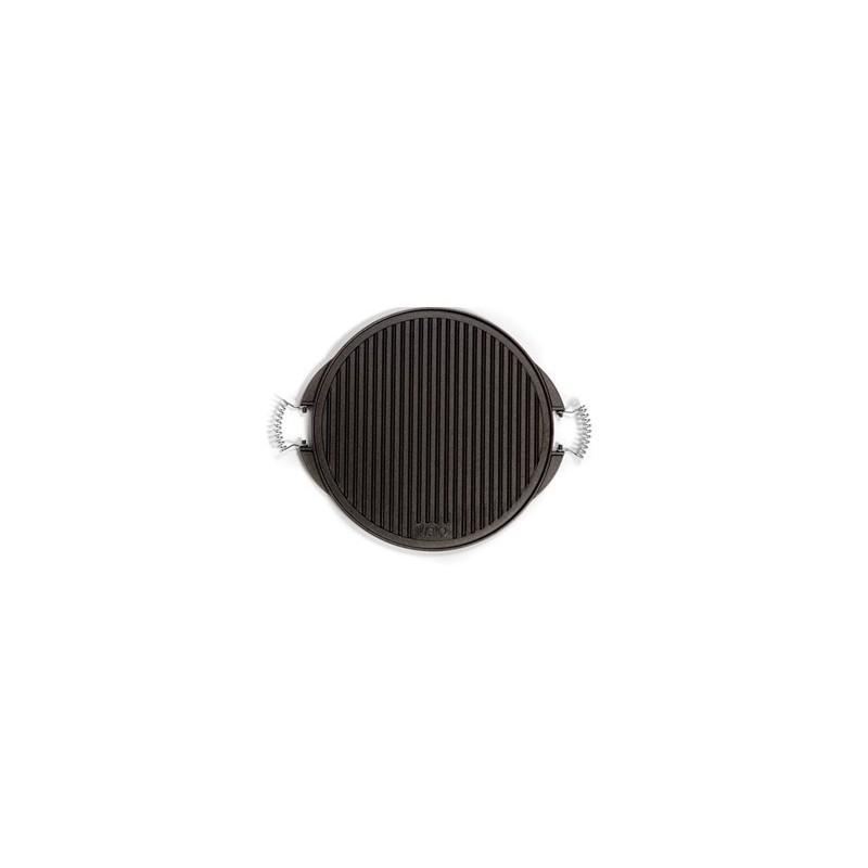 Plancha de hierro fundido ondulada y lisa 25 cm