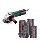 Pack amoladora Metabo WE 17-125 Quick más 100 discos Novorapid